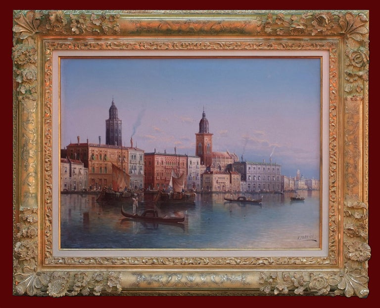 KAUFMANN Karl   Landscape Painting - View of Venice - Painting 19th Century
