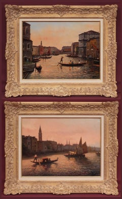 Venice Views in Pair, Paintings Post-impressionist