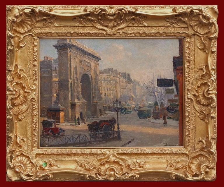 Fournier Victor Alfred Landscape Painting - Paris, Boulevard Porte Saint Denis