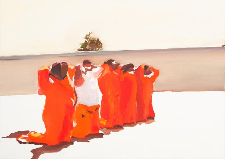 Katherine Russell Figurative Painting - ' This Is Not Guantanamo '  oil on canvas