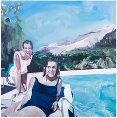 ' Poolside Smiles '  oil on canvas
