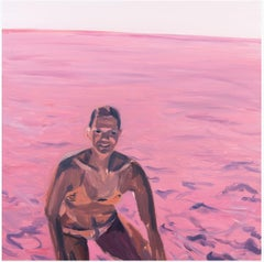 ' Pink Dip '  oil on canvas