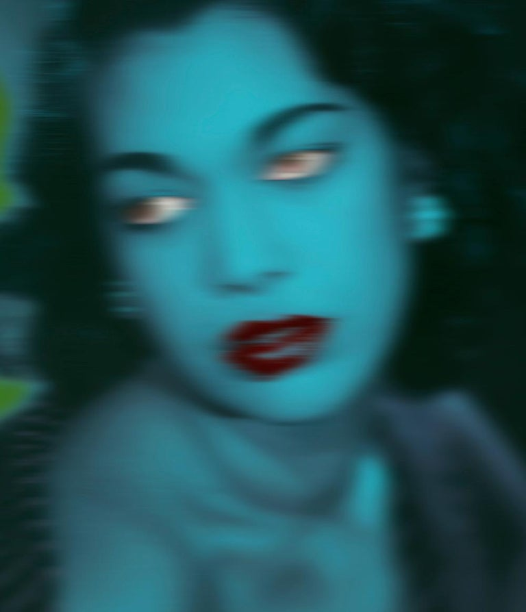 Blue Girl  - Oversize limited edition - Pop Art  - Photograph by Batik
