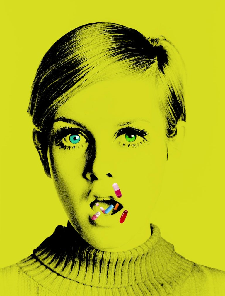 Batik Color Photograph - The Drugs Don't Work I - Oversize signed limited edition - Pop Art - Twiggy