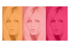 Pink Bardot Triptych by BATIK  signed limited Oversize print