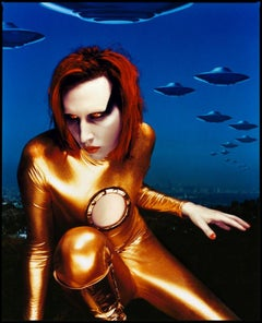 Marilyn Manson - signed Limited Edition Oversize print (1998)