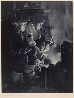 Oates And Meares At The Blubber Stove (1910-13)