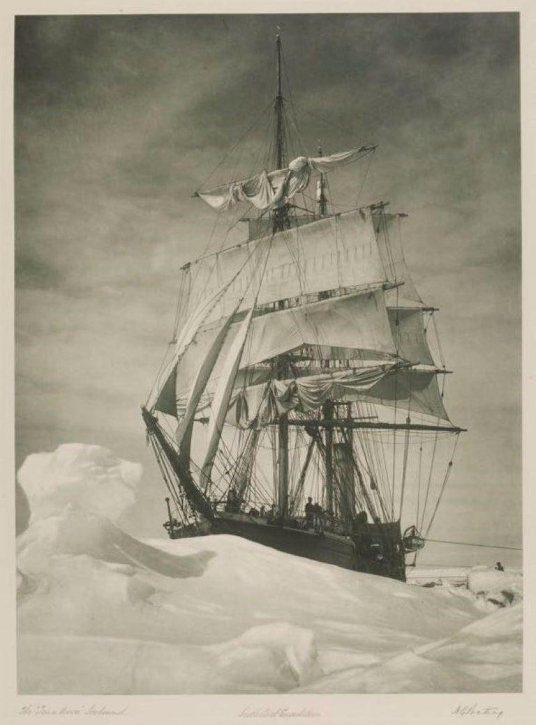 Herbert Ponting  Black and White Photograph - The Terra Nova (1910-13) Oversize Archival Pigment Print