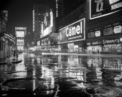 Times Square at Night (1953) Silver Gelatin Fibre Print - Oversized