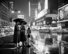 Rainy Time Square (1953) Silver Gelatin Fibre Print - Oversized