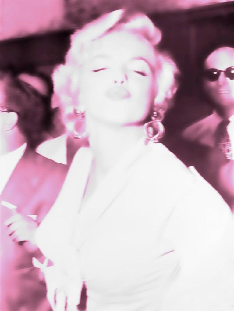 BATIK Portrait Print - Starlight Starbright I - Marilyn Monroe signed limited edition - Pop Art