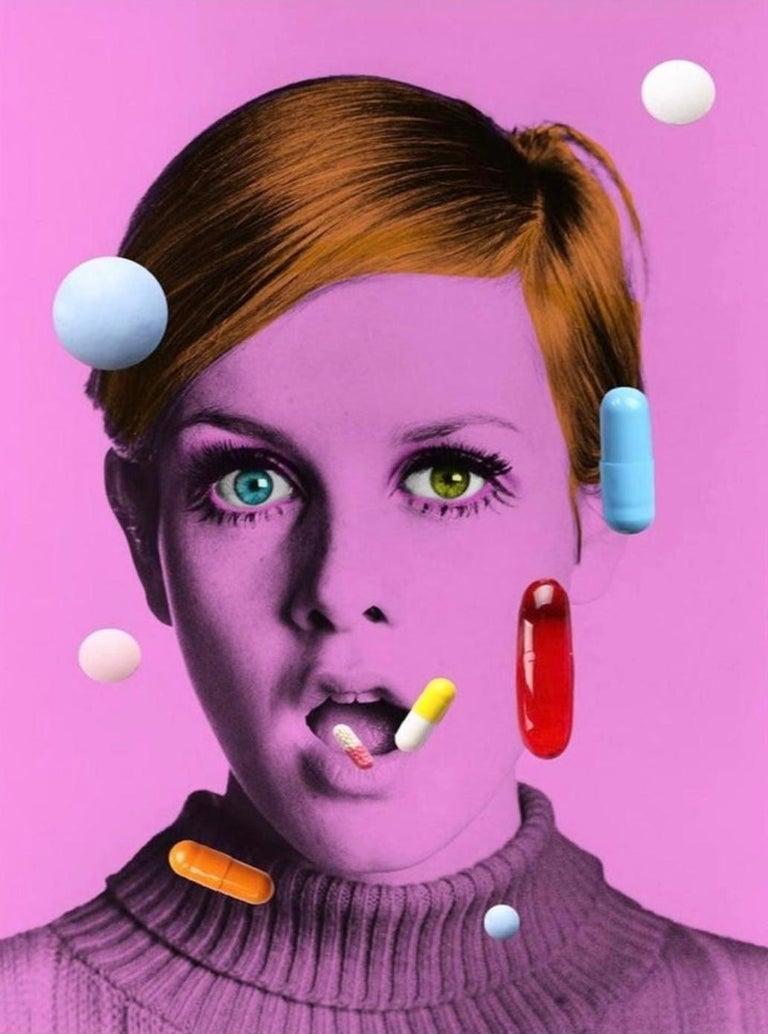 BATIK Portrait Print - The Drugs Don't Work II  - Oversize signed limited edition - Pop Art - Twiggy