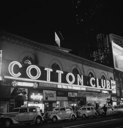 Cotton Club Marquee In NY (1938) - Silver Gelatin Fibre Print