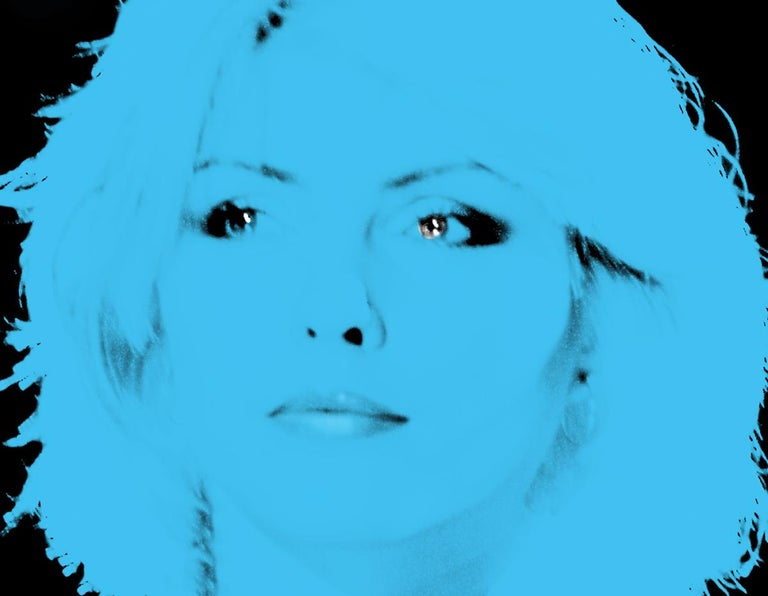 """Blondie Blue by BATIK signed limited edition POP ART print   Paper Size OVERSIZE 40 x 30"""" inches / 101 x 76 cm Signed & numbered by artist on front Archival Pigment print  Limited to 10 only   Featuring pop art artwork of the iconic Debbie Harry"""