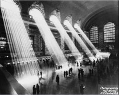 Sun Beams Into Grand Central Station (1930) - Silver Gelatin Fibre Print
