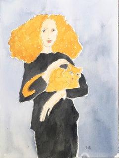 Grace Coddington Portrait, One of a Kind Watercolor, 2018