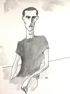 Peter Hujar, 2018, Ink and Watercolor on Paper