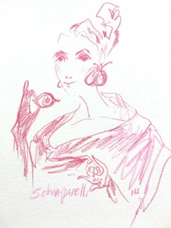 Schiaparelli, 2018, Color Pencil on Paper
