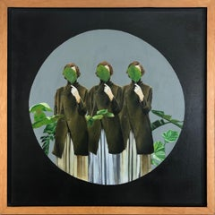 Una Sola Verdad From The Series Of Revelación, Oil and Acrylic On Canvas, framed