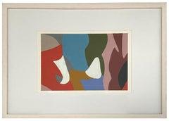 Formas, One of a Kind Oil on paper - Framed