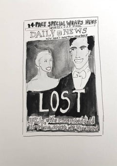 John Kennedy and Caroline Bessette NY Daily News Cover (figurative painting)