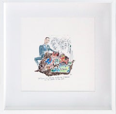Jeff Koons Doing Business in NY - One of a kind watercolor