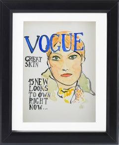 Vogue #3, Watercolor on Archival Paper, 2016