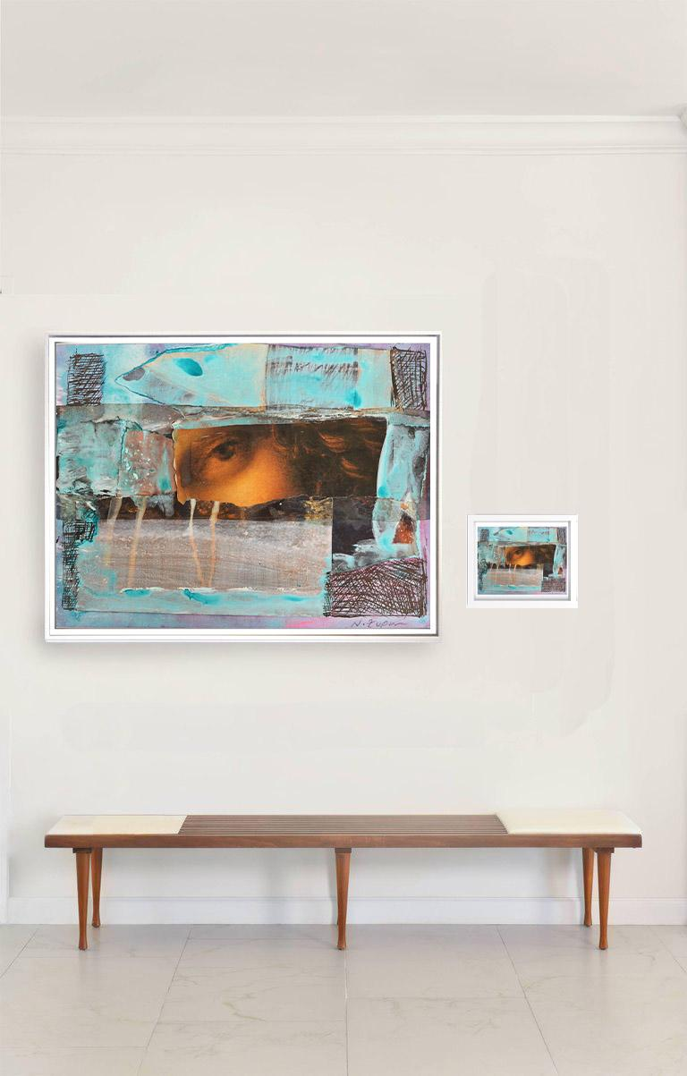 """Natasha Zupan Abstract Drawing - """"Eternal Recurrence #21"""" diptych. Large photographic print and collage, 2015"""
