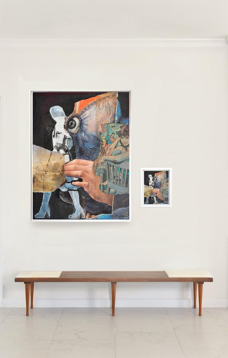 """Natasha Zupan Abstract Drawing - """"Eternal Recurrence #2"""" Diptych. Large archival pigment print and collage"""