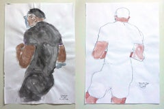 Nando Jose of Boys, Boys, Pride, II and II, Diptych Watercolor 2018