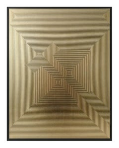 Untitled 6, 2019, Lacquer, Acrylic, Oil and Gold Leaf on MDF