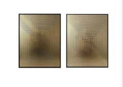 Untitled 1& Untitled 6 Diptych on MDF Deep