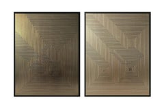 Untitled 5 & Untitled 3 Diptych on MDF Deep