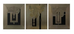 Untitled 25, Untitled 26 & Untitled 27 Tryptych  on MDF Deep