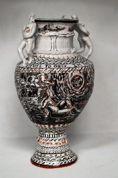 Of Course, You Weren't Made To Be Subservient, Hand Built Carved Porcelain Vase