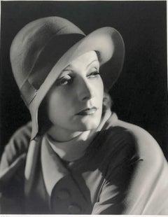 Greta Garbo, Portrait with Hat.