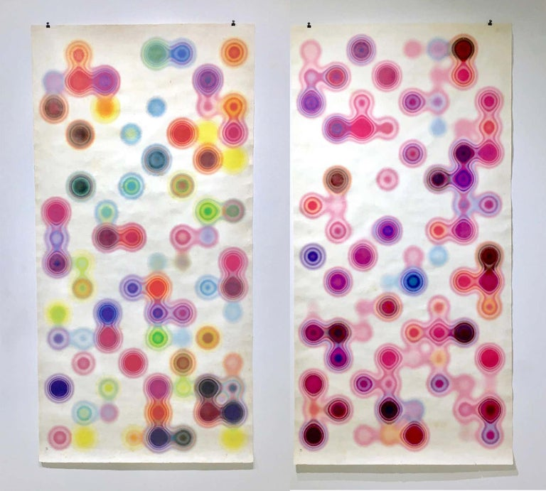 Andres Ferrandis Abstract Print - Diptych Nanai #1 y Nanai #2. Archival flat print on Amate handmade paper
