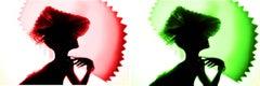 Back Lighting, Red Green Diptych