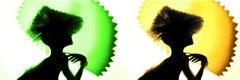 Back Lighting, Green Yellow Diptych