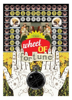 10 / The Wheel Of Fortune, From The Tarot of The Golden Scissors Series