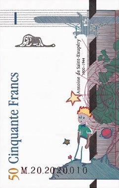 50 Francos Anverso Izquierdo (Framed)
