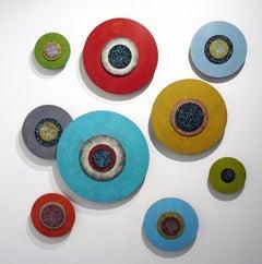 Modern Series Multi Colored Circular Panels