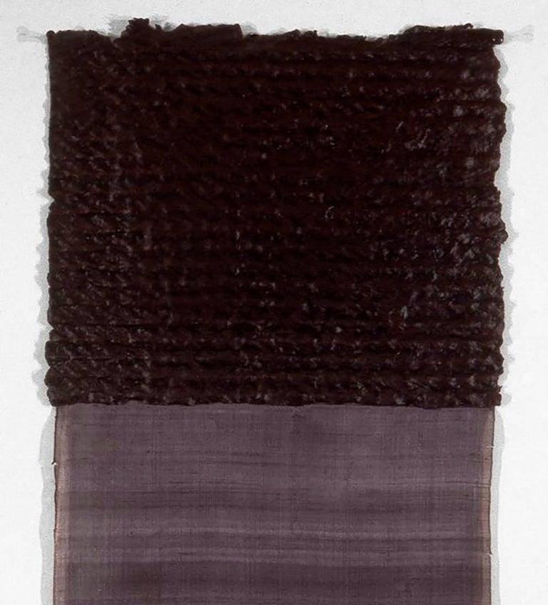 Anecdote and Parable 11-97-P - Black Abstract Drawing by David Shapiro