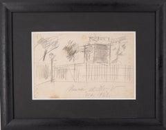 Montmartre : Moulin de la Galette - Original handsigned pencil drawing