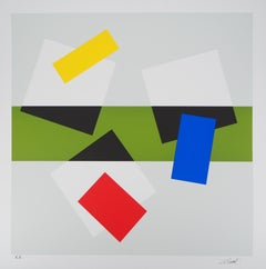 Geometrical Composition - Original handsigned screen print, Limited to 60 copies