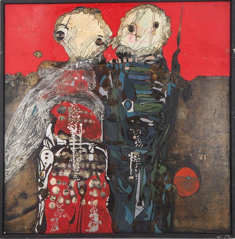 Jean-Pierre VIELFAURE Portrait Painting - Japan : Wedding in Hiroshima - Original oil painting on canvas