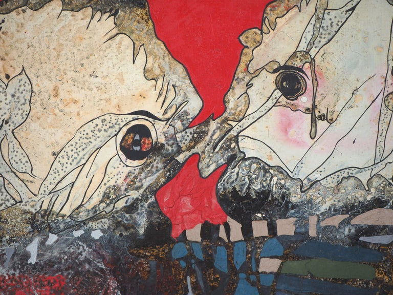 Japan : Wedding in Hiroshima - Original oil painting on canvas - Modern Painting by Jean-Pierre VIELFAURE