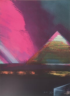 Egypt : Great Pyramid of Kheops - Original handsigned lithograph, Ltd 175 proofs