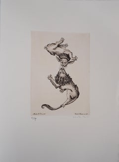 Animals that Love Each Other - Original handsigned etching
