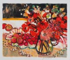 Poppies - Original Lithograph, Handsigned